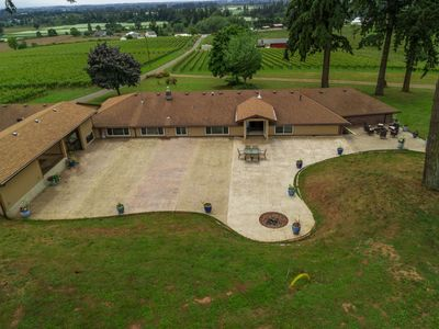 Photo for Dundee Wine Country Estate, Single Lvl, Huge Patio, Vineyard Views, Free Tastings, Foosball, FirePit
