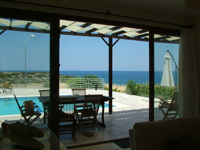 Photo for Spacious sea front villa, large pool - 3 bedrooms (2 ensuite), sleeps 6, aircon