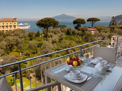 Photo for Eden House, Amazing Seeview Apartment no Car needed Sorrento center no noise