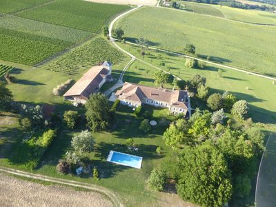 Photo for Luxury Private Rural Gite Among Vines with15m Pool and Spectacular Views