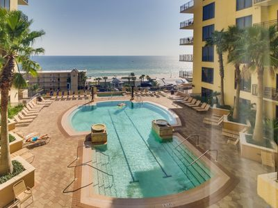 Photo for Enjoy ocean views & amenities like shared pool & hot tubs, private beach access!