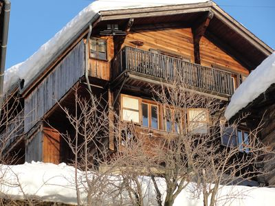 Photo for Cozy, sunny 3 bedroom apartment in the old part Albinen bei Leukerbad (Valais)