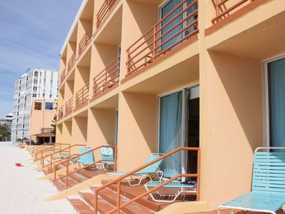 Photo for Great Vacay Awaits! Three Beach Front Units for 15 Guests, Pool, Housekeeping