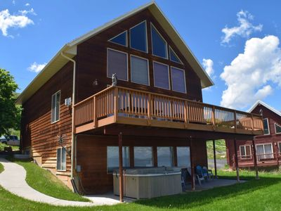 Photo for NEW LISTING! Lake home w/view of Bear Lake, private hot tub & shared pool
