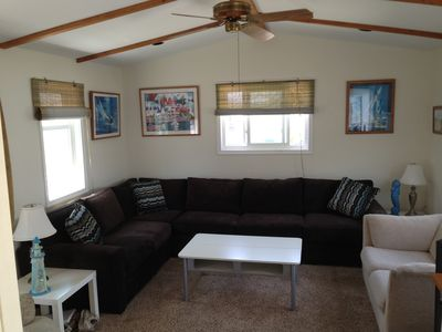 Living room with pull out full size bed