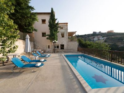 Photo for 5 bedroom Villa, sleeps 10 in Maroulas with Pool, Air Con and WiFi