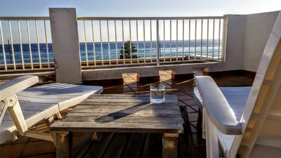 Photo for Beautiful apartment with an amazing roof terrace infront of the Mediterranean