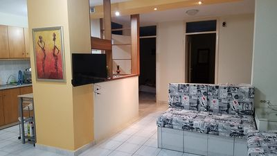 Photo for Newly renovated, quiet & spacious, 30 second walk to beach, 7 min to old town