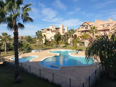 Photo for Fantastic 2 bed 2 bath apartment with golf and pool views