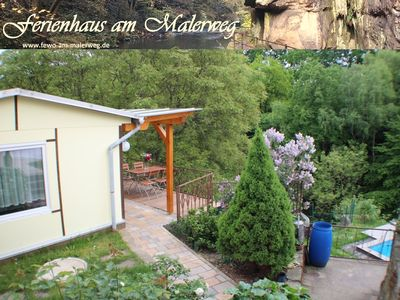 Photo for FeHaus am Malerweg, quiet location, pool, terrace, national park, Saxon Switzerland