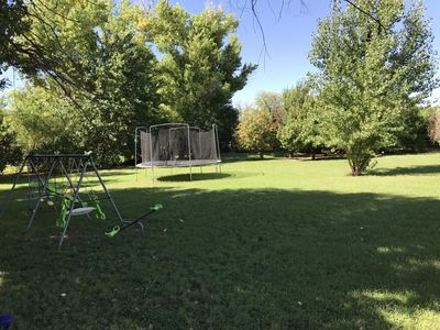 Backyard, the swing set has been removed - New one coming Fall of 2018