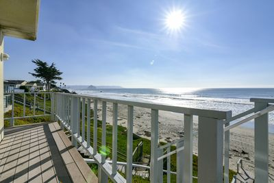 With stairs taking you directly to the sand, this home has a perfect location