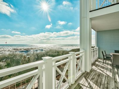 Photo for Gulf Views!  Executive Access Home! Steps from Community Pool!