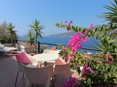 Photo for Fabulous sea views, private pool, gardens, near beach clubs, quiet; renovated