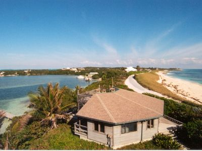 Photo for Seascape cottage, absolutely on the ocean with a dock on the Sea of Abaco