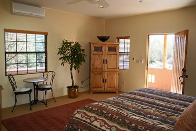 """Cathedral Suite 37"""" flat screen TV with HD cable and movie channels"""