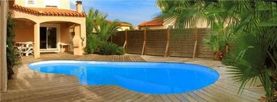 Photo for Beautiful 4 * listed beachfront home with heated jacuzy and pool
