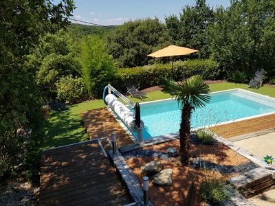 Photo for Quiet detached villa with views, private heated pool