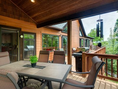 Photo for open concept, large deck! outdoor fun and very relaxing. Great for anything! :)