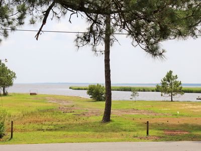 Photo for Exceptional Pungo River waterview. Walk or bike ride to town.