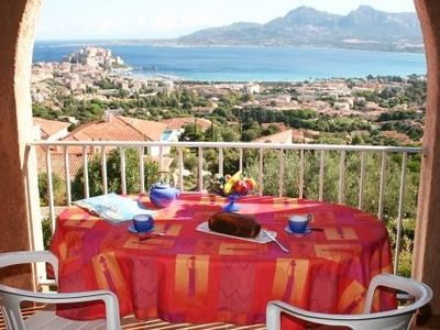 Photo for Residence and offers superb views over the Calvi bay and citadelle.