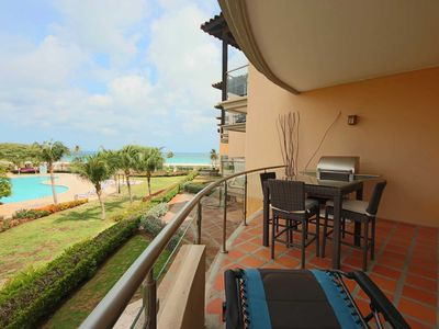 Photo for BEACHFRONT - EAGLE BEACH - OCEANIA RESORT - Absolute Luxury 2BR condo - BC254