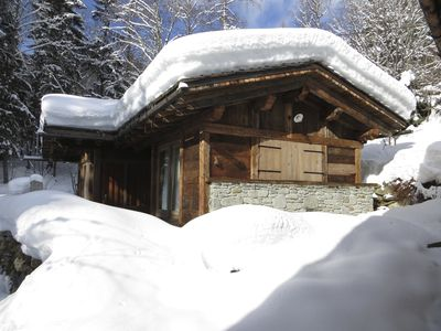 Photo for Old Wood Chalet: High End, Charm, Comfort (Sauna), View, River & Drill