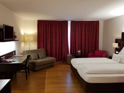 Photo for Triple room comfort on the river side with shower / WC - Weinhotel Klostermühle