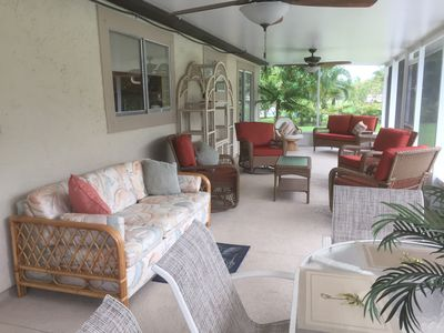 Photo for Beautiful Tranquil Pool Home, 3 Br./2 Ba, Large Screened Fl. Room, Pet Friendly