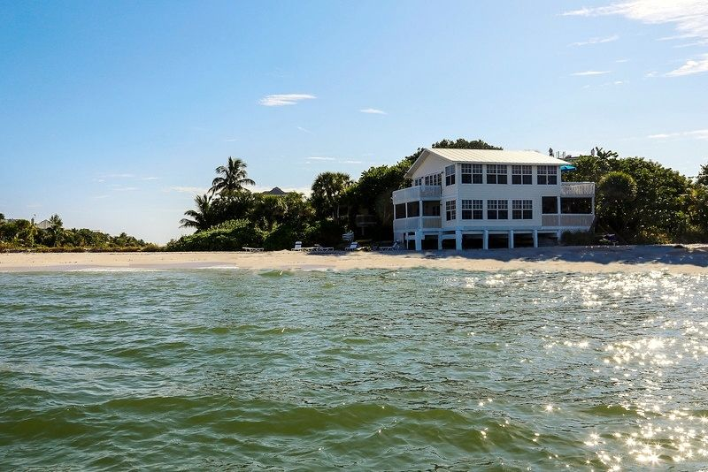 Big on the beach house north captiva island florida south for Large beach house