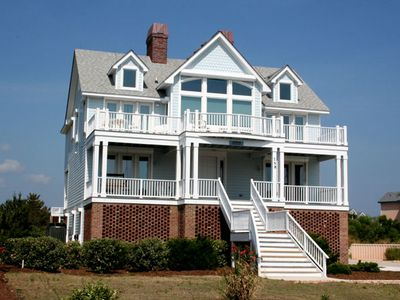 Photo for #BU63: Partial OCEANVIEW in Corolla w/PrivatePool, HotTub, Elev. & RecRm