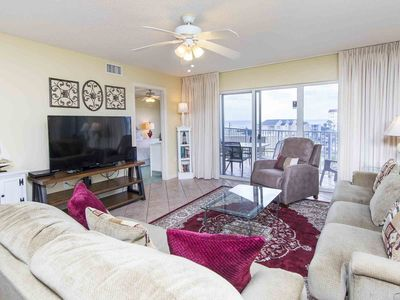 Photo for Beachfront Condo with Private Balcony. Indoor and Outdoor Resort Pools. Onsite Fitness Center.