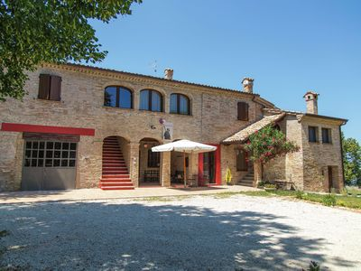 Photo for Mini apartment in building dating from 1600 in the rolling countryside with a sea view.