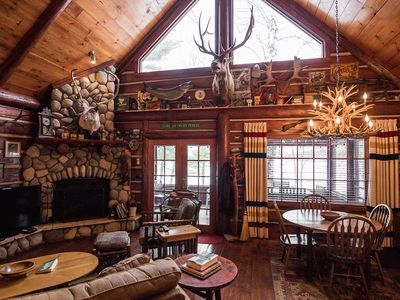 Photo for Rustic Luxurious Log Cabin on Magestic Round Lake in Richardson Bay Cabin 7