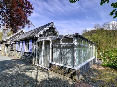 Photo for This attractive stone cottage is set above the river Dulas, surrounded by the forested hills of the