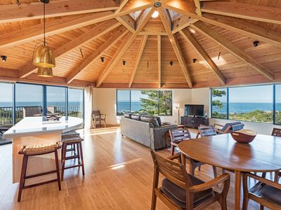 Photo for Panoramic Ocean View House on Meadow with WiFi, Private Balcony, Natural Light