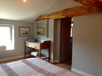 Bedroom 2. Duel aspect with river and country views.