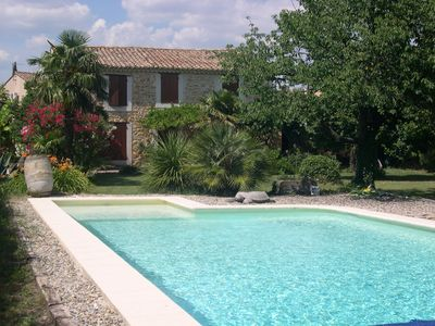 Photo for stone farmhouse with pool on 5000m meadow.