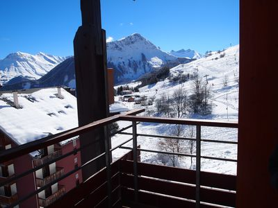 Photo for Le Corbier, T2 skis 5 people, residence Les Pistes, Les Sybelles, Savoie