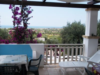 Photo for New and comfortable holiday house over the sea of Pescoluse. Calm and airy location, panoramic view