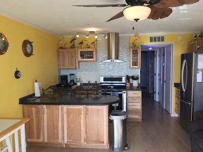 Galley kitchen was extended for extra space