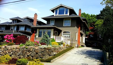 Our vintage 1907 craftsman style residence. Large driveway  free parking