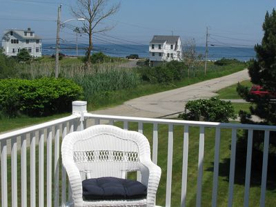 Photo for NEW LISTING! Coastal cottage w/fireplace, deck & ocean views- walk to beach