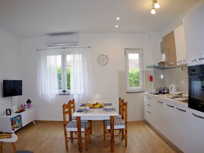 Photo for Holiday apartment in suburb of Pula - Valdebek,  nice garden on disposal