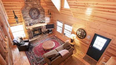 Photo for Log Cabin near Lake w/ Hot Tub and Pool Access