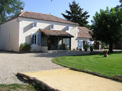 Photo for Peaceful Riverside Farmhouse bordering the Lot et Garonne and the Dordogne