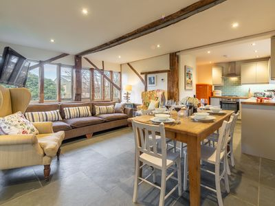 Photo for This converted barn sleeps 6 and provides a cosy and welcoming space.