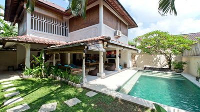 Photo for VILLA TEMAN ... THREE BEDROOMS, POOL, WIFI SEMINYAK BEACH SIDE!