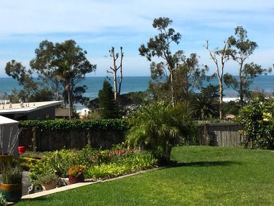 Ocean view from back yard.