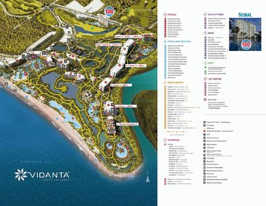 Grand Luxxe towers are next to the Ameca River on the right of this Vidanta map